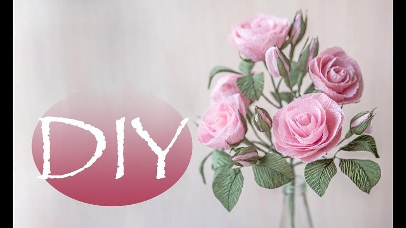 Веточка с маленькими розами из бумаги DIY Tsvoric Small roses made of paper
