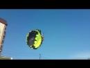 В Краснодарском крае парень с девушкой решили полетать на парашюте, но линии электросети были против🤔😏😓😰😱😵😧