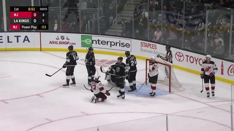 НХЛ 2018 19 Сэйв Дерека Форборта в матче с Нью Джерси 07 12 18