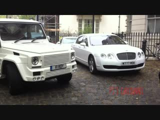 Brabus Wide-Body Mercedes-Benz G55 AMG in London (incl. Bentley Flying Spur Ma