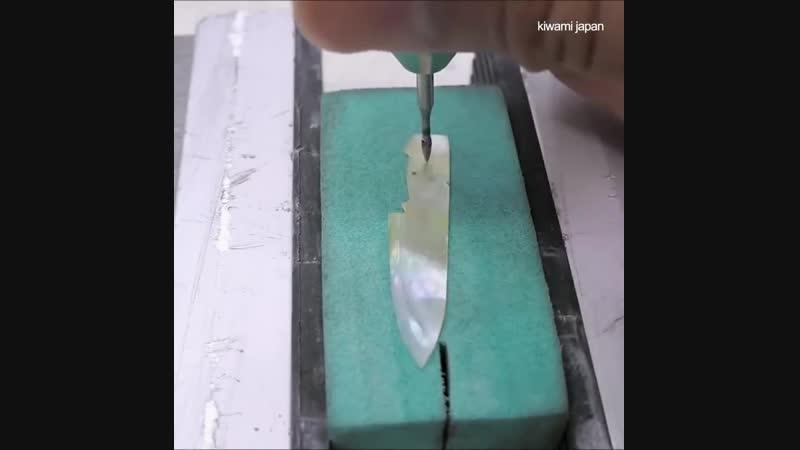Самый острый перл oyster кухонный нож в мире 😮🔪