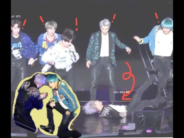 Sudden Change in DNA Dance? Jimin falls, Jin takes his shoes off