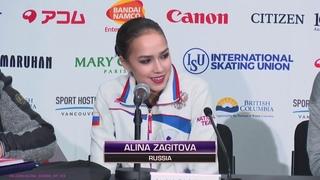Alina Zagitova Free Press Conference Grand Prix Final 2018 12 8