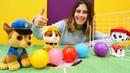 Bebek videosu Paw Patrol oyuncakları futbol oynuyorlar