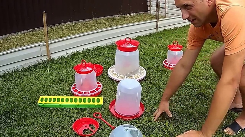 Пластиковые бункерные кормушки и поилки для кур,гусят,цыплят.