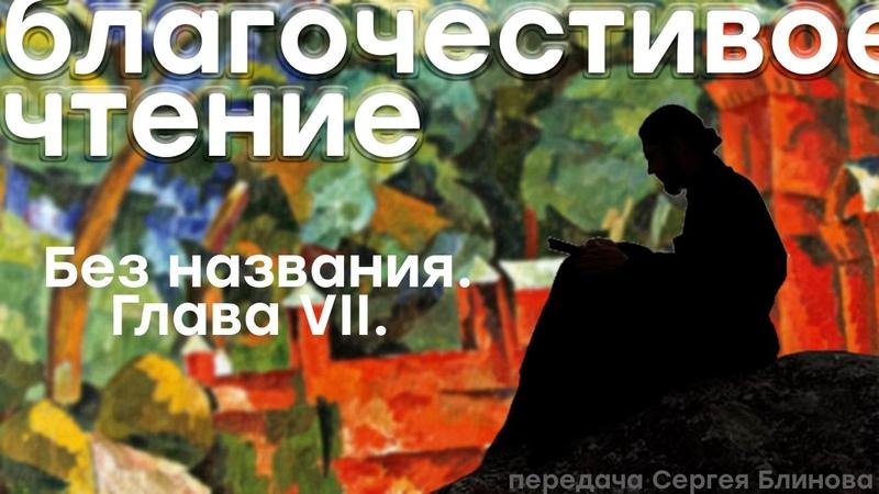 Благочестивое чтение Сергея Блинова — Произведение без названия — Глава VII.