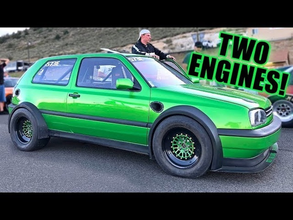 This VW Golf Makes 1600 HORSEPOWER! (Twin Engine Twin Turbo!)