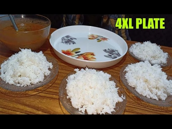 WHITE RICE EATING CHALLENGE 4XL PLATES | RICE EATING COMPETITION | FOOD EATING CHALLENGE | FASTFOOD