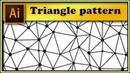 🔺🛆🔺 Irregular triangles pattern with dots - Adobe Illustrator tutorial