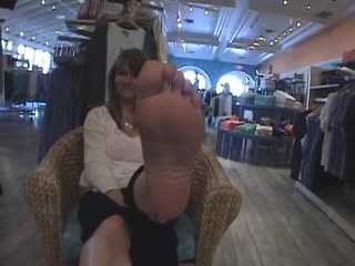 42 year old saleswoman candid sexy soles