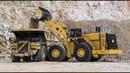 Мощный фронтальный погрузчик Caterpillar грузоподъемностью 45 000 кг