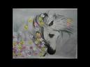 вышивка лентами №3 Фантазийные ромашки Венеры Гизатуллиной