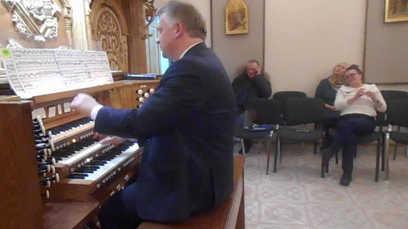 Видео с органистом-виртуозом,Мареком Стефаньски, после концерта