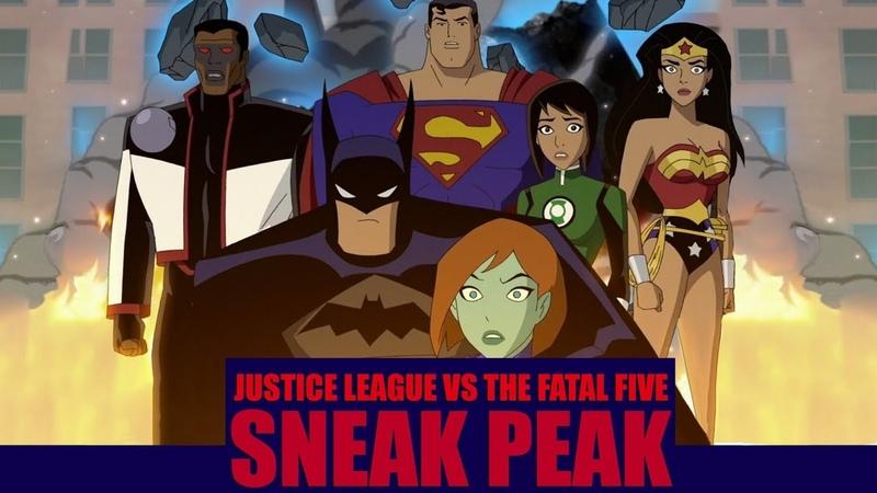 Justice League Vs. The Fatal Five Sneak Peak [2019]