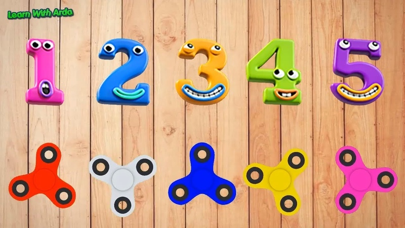 Learn Colors and Numbers 1 to 5 with Fidget spinner for Kids