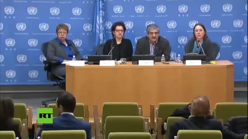 Journalistin zerlegt - in den UN in 2 Minuten - die Glaubwürdigkeit der Mainstream-