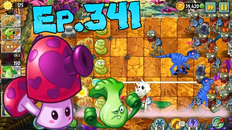 Plants vs. Zombies 2 || Perfume-shroom, Laser Bean - Jurassic Marsh Day 10 (Ep.341)