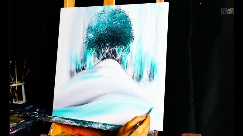 Ancient Tree - abstract painting by Dranitsin