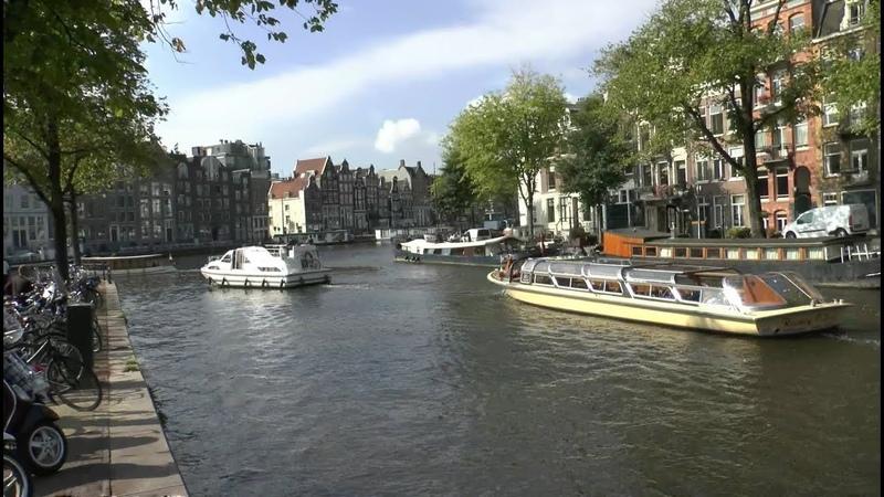 Walk through the canals of Amsterdam Netherlands Prinsengracht Amstel Kloveniersburgwal Geldersekade