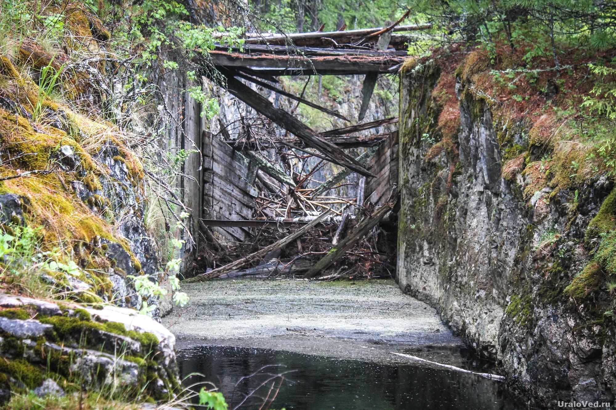Канал на реке Талица, пробитый узниками Ивдельлага