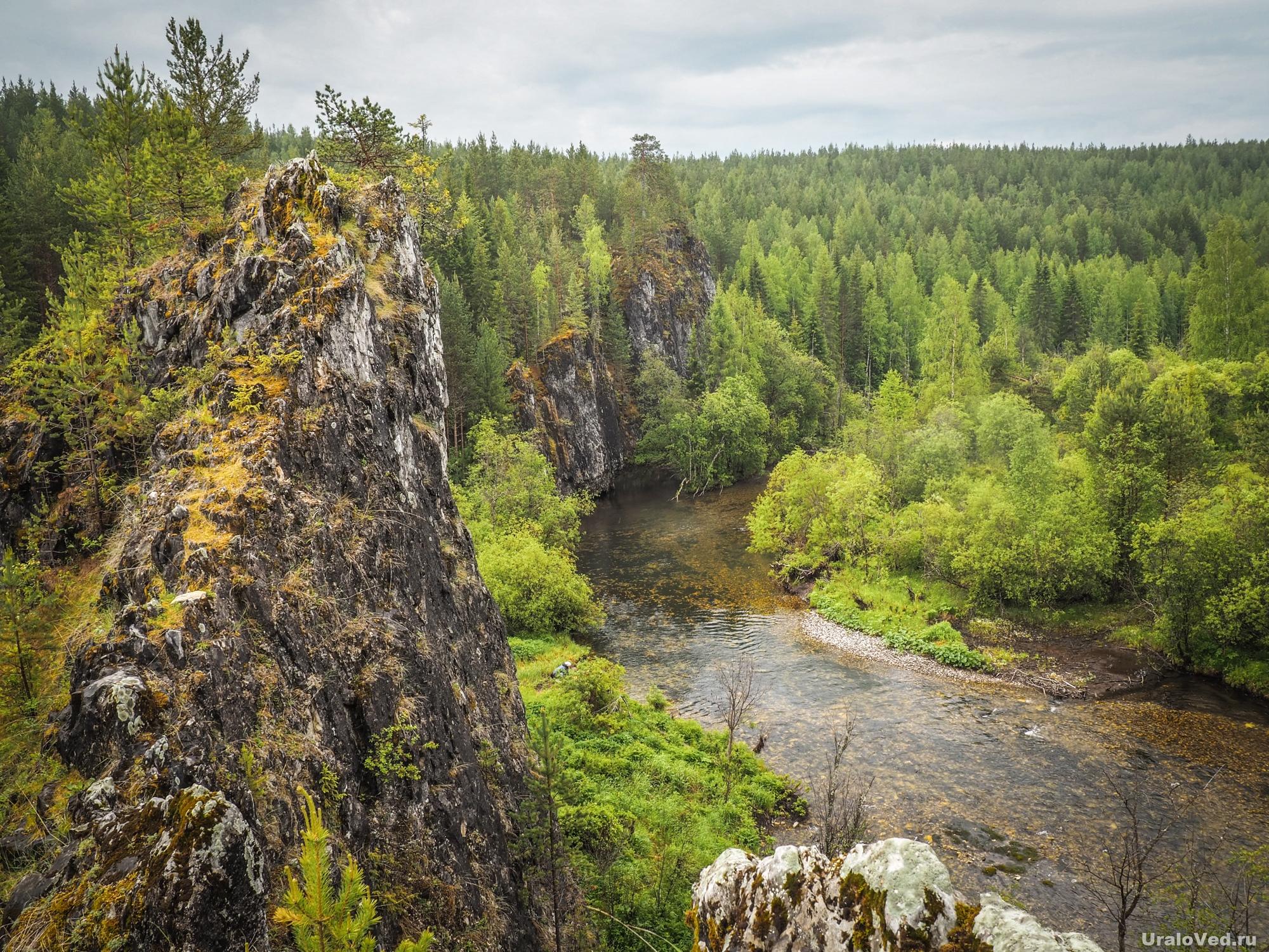Скалы на реке Талица