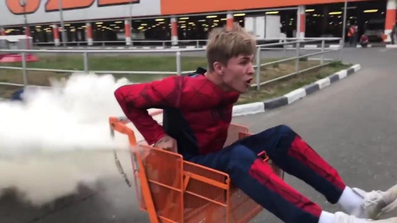 Реакция людей на Суперкар ЧЕЛОВЕКА ПАУКА