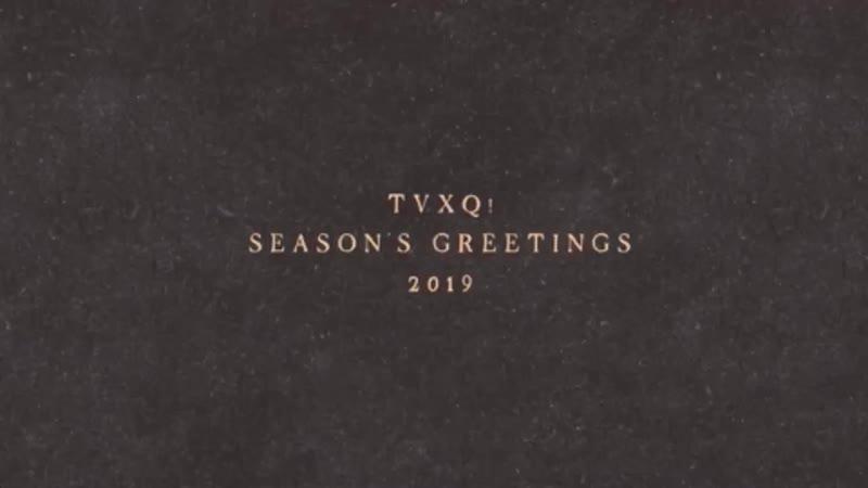 TVXQ! 2019 season's greetings making film preview