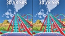 VR 3D Roller Coaster 6 Американские Горки видео для VR очков 3D SBS