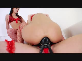 №58. 2012 - strap on anal lesbians 1 - scene 2. alysa gap, hotkinkyjo, izobella clark fisting, anal, prolapse, dildo, gape