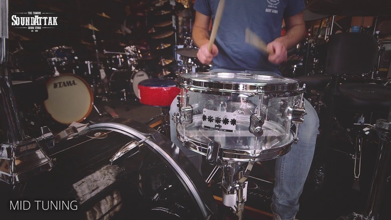 PDP Chad Smith Signature 12x6 Acrylic Snare Drum