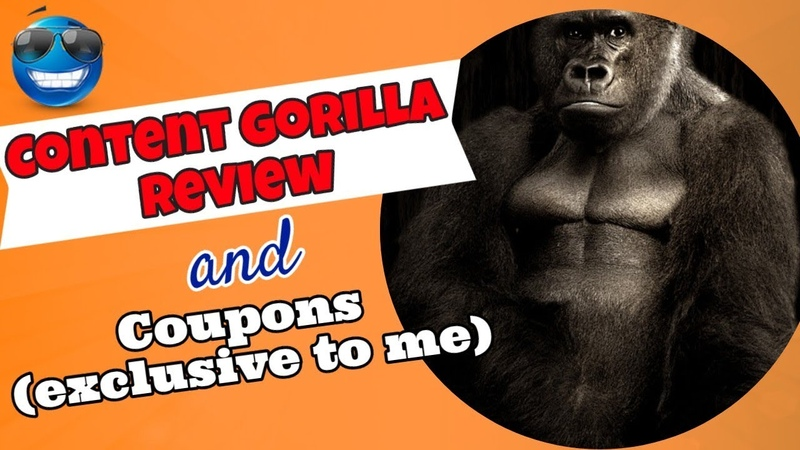 Content Gorilla Review and Discount coupons no one else has these