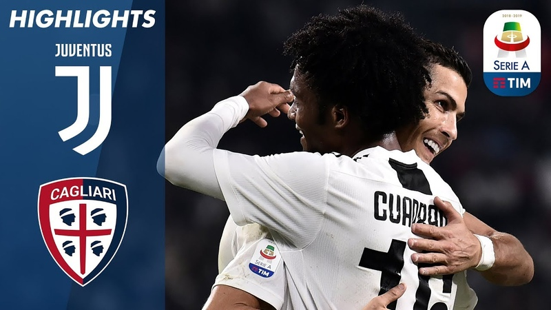 Juventus 3 1 Cagliari Juve labour to 10th win of the season Serie A