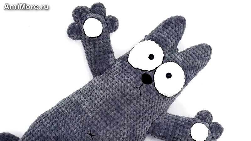 Амигуруми: схема Кота Саймона. Игрушки вязаные крючком - Free crochet patterns.