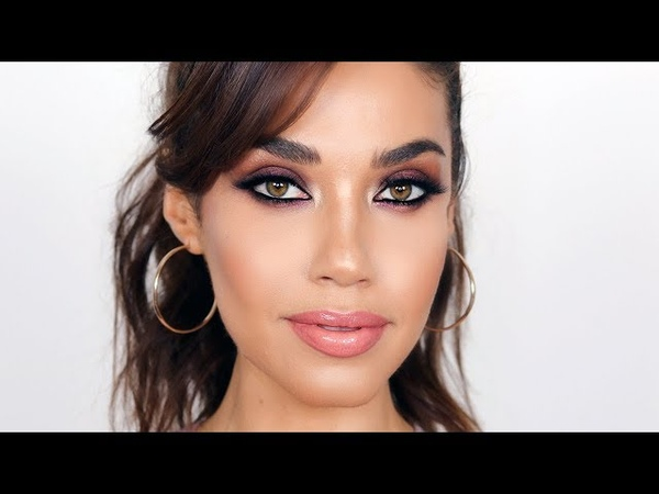 Bold Shimmery Brown Smokey Eye for a Night Out   How-To Beauty   Eman