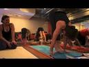 Yoga Tips with Christina Sell Floating in Sun salutation surya namaskar asana