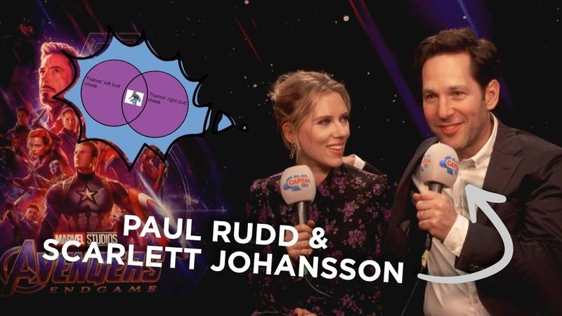 Paul Rudd Explains The Ant Man Thanos Butt Meme To Scarlett Johansson 🐜 FULL INTERVIEW