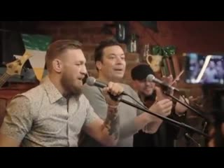 Conor mcgregor  jimmy fallon sing whiskey in the jar in new york