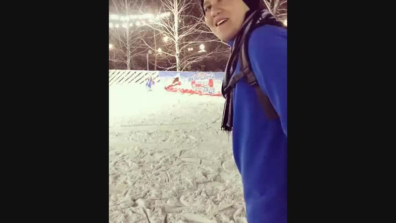 21.01.2019 - вчера в парке президента покатались на коньках и прогулялись с участницей из нашего сообщества.