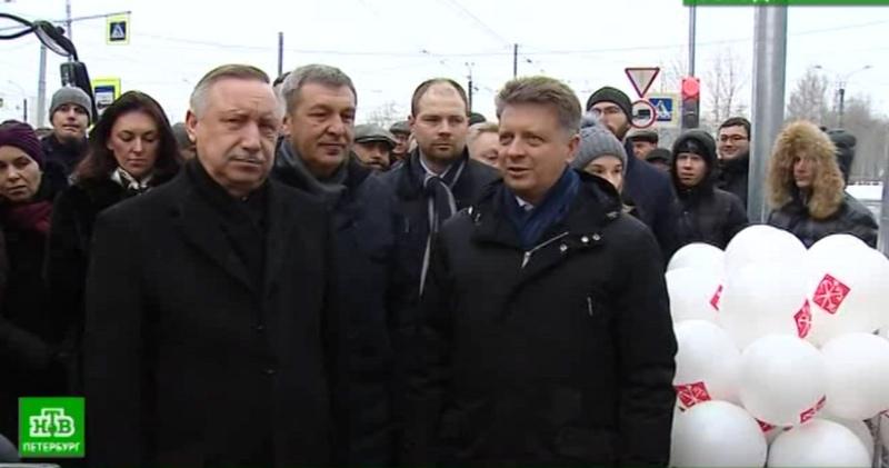 «Чижик» начинает ходить по новому трамвайному маршруту на востоке Петербурга