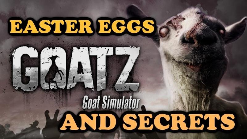 Goat Simulator GOATZ All Easter Eggs And Secrets HD