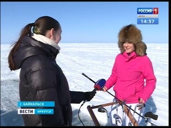 Нетипичные условия В гольф сыграли на льду Байкала