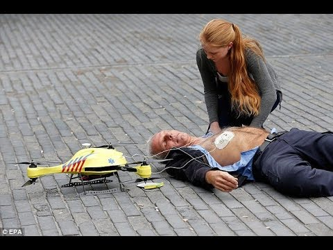 Ambulance Drone - Demo Capable saves lives with integrated defibrillator / Video 14 youtube ch