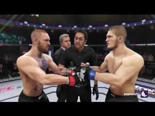 EA Sports UFC 3 Conor McGregor vs Khabib Nurmagomedov (UFC 229 Championship fight simulation)