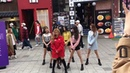Cube New Girl Group IDLE street performance - Hello bitches - CL 2ne1 and Mic drop - BTS
