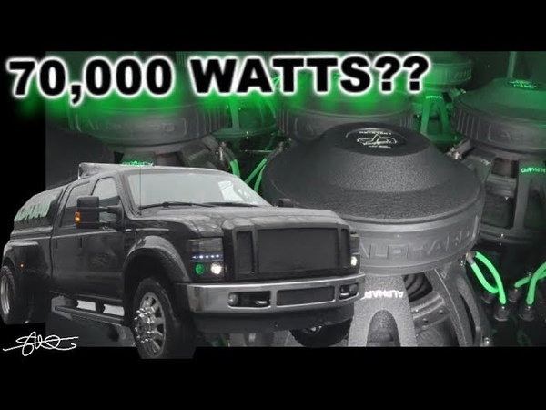 70,000 Watts? the Alphard Ford F-350 Dually (12) 15 Subwoofers 25 Speakers in each door!