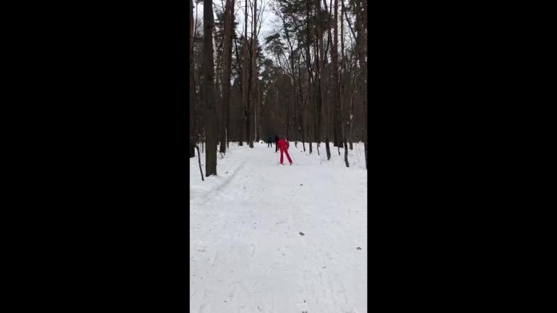 Занятие беговыми лыжами для взрослых - инструктор Денис Козлов