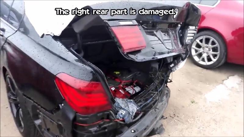 BMW 7 Ремонт кузова Замена задней части машины Body repair The rear part replacement смотреть онлайн без регистрации
