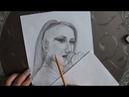Портрет карандашом. Louna.