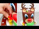 Christmas Cake   Reindeer Cake with Chocolate Buttecream Frosting by Cakes StepbyStep