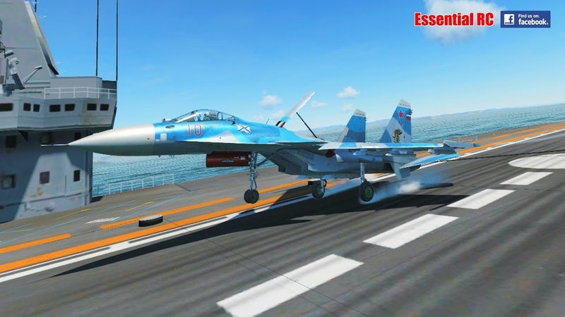 RUSSIAN SUKHOI Su-33 FIGHTER JET AIRCRAFT CARRIER LANDING and LOW LEVEL RECONNAISSANCE (DCS 2.5)